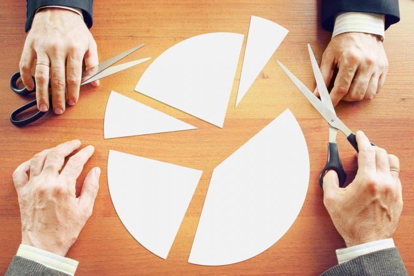 Sozialkompetenz - Soft Skills aufdröseln - Kreisdiagramm wird zerschnitten