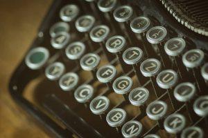 Buchstaben einer Schreibmaschine