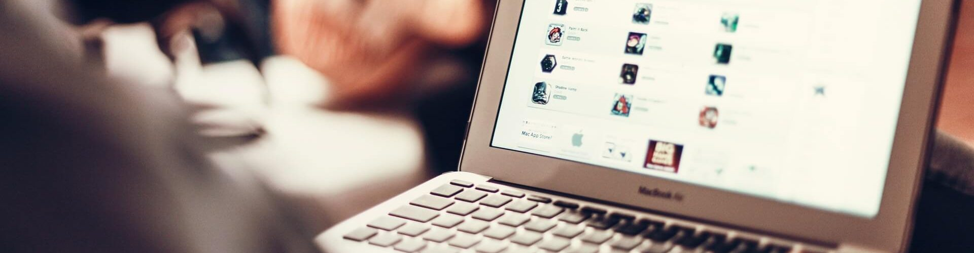 Bewerberwebsite - Blick auf eine Homepage
