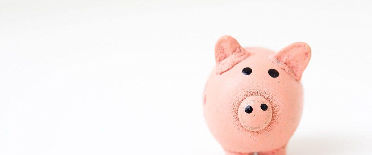 Gehaltsvorstellung im Anschreiben - rosa Sparschwein