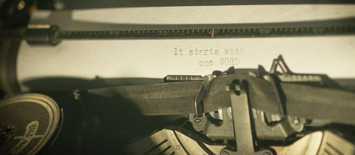 Betreffzeile der E-Mail-Bewerbung: Schreibmaschine