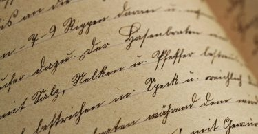 Handschriftprobe: Handgeschriebenes Dokument