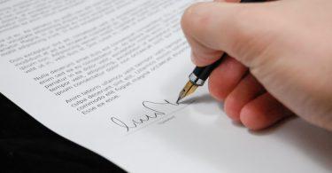 Unterschrift bei einer Online-Bewerbung