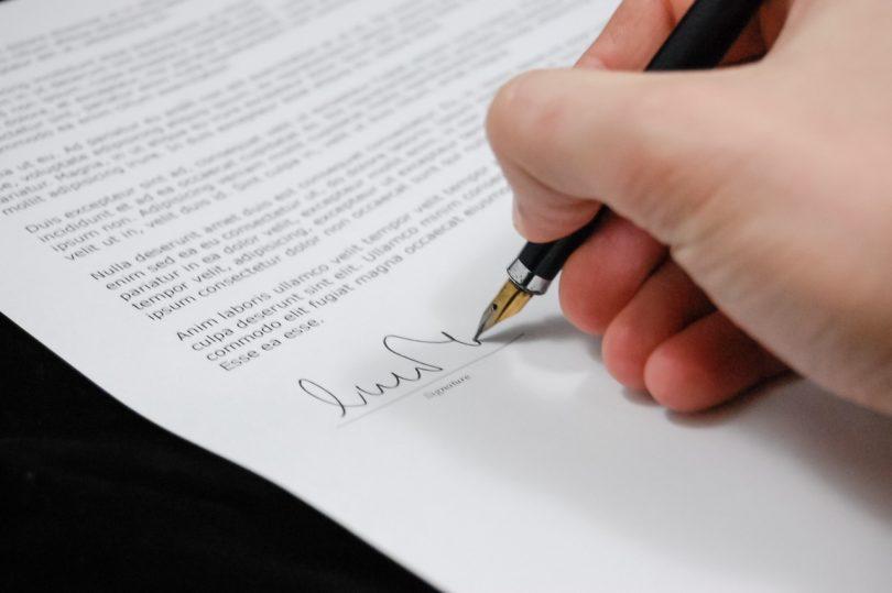 Online Bewerbung Anschreiben Unterschrift