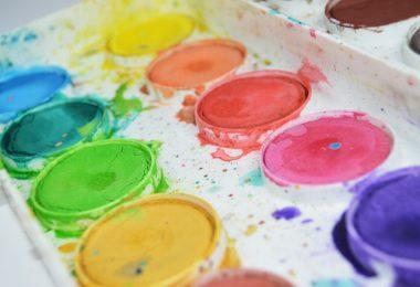 Wasserfarben in Malkasten