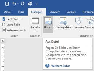 Screenshot - Word - Bild einfügen