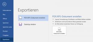 Screenshot - Word - PDF exportieren