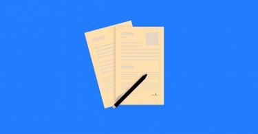 Illustration von Bewerbungsunterlagen